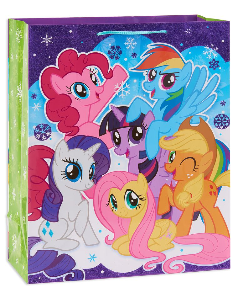 large my little pony christmas gift bag
