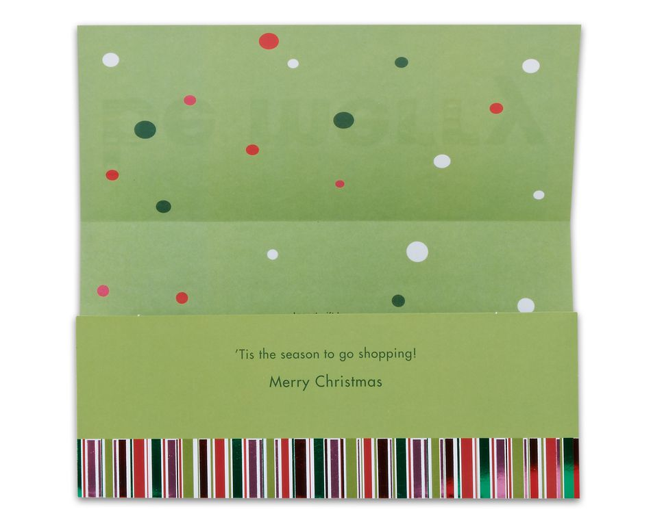 merry money holder christmas card