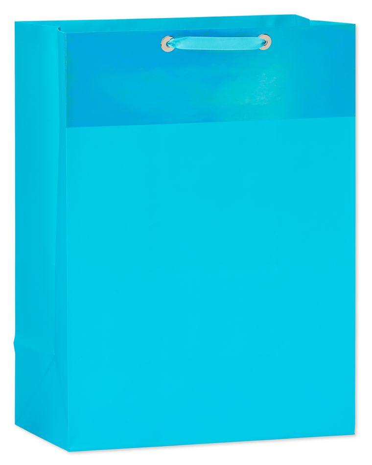jumbo aqua metallic gift bag