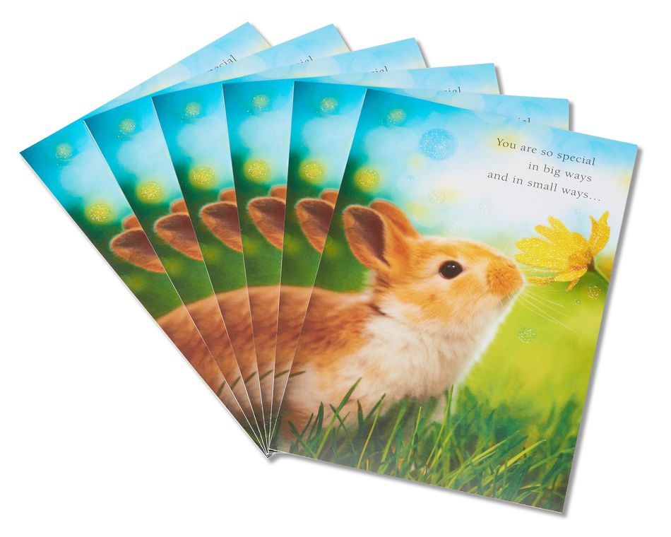 bunny easter card, 6-count