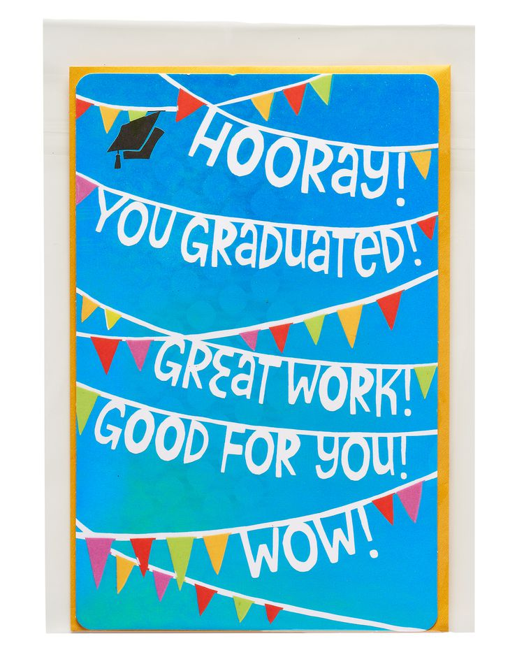 hooray graduation card