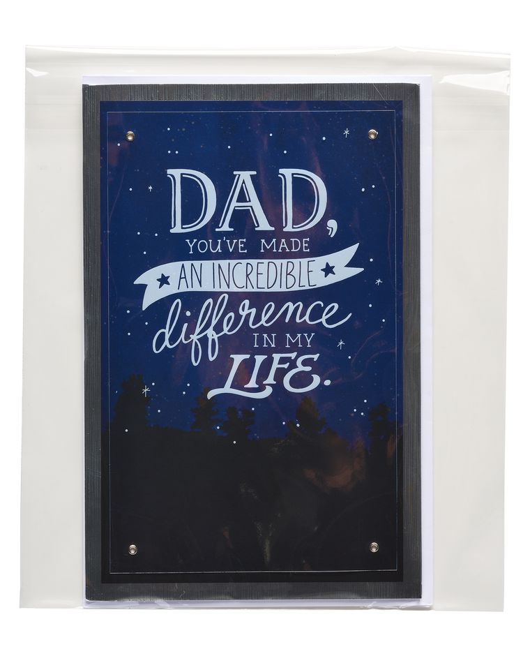 incredible difference father's day card