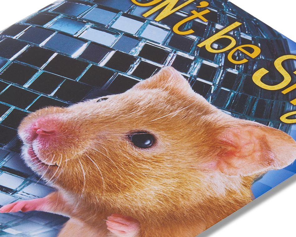 funny hamster birthday card