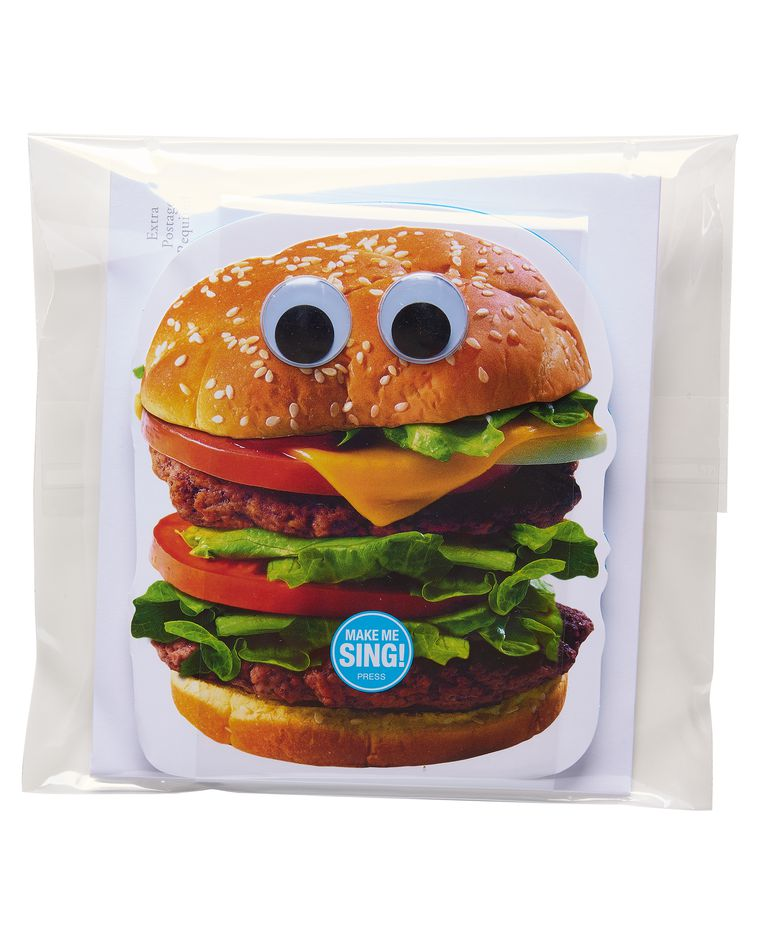 funny hamburger birthday card