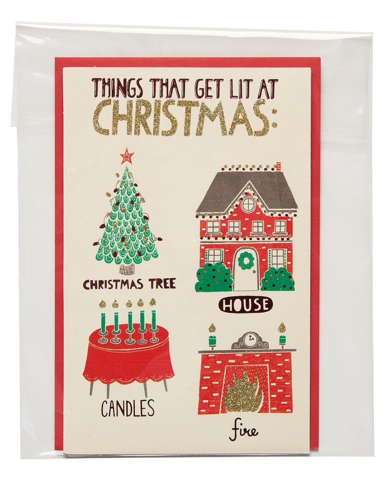 lit christmas card