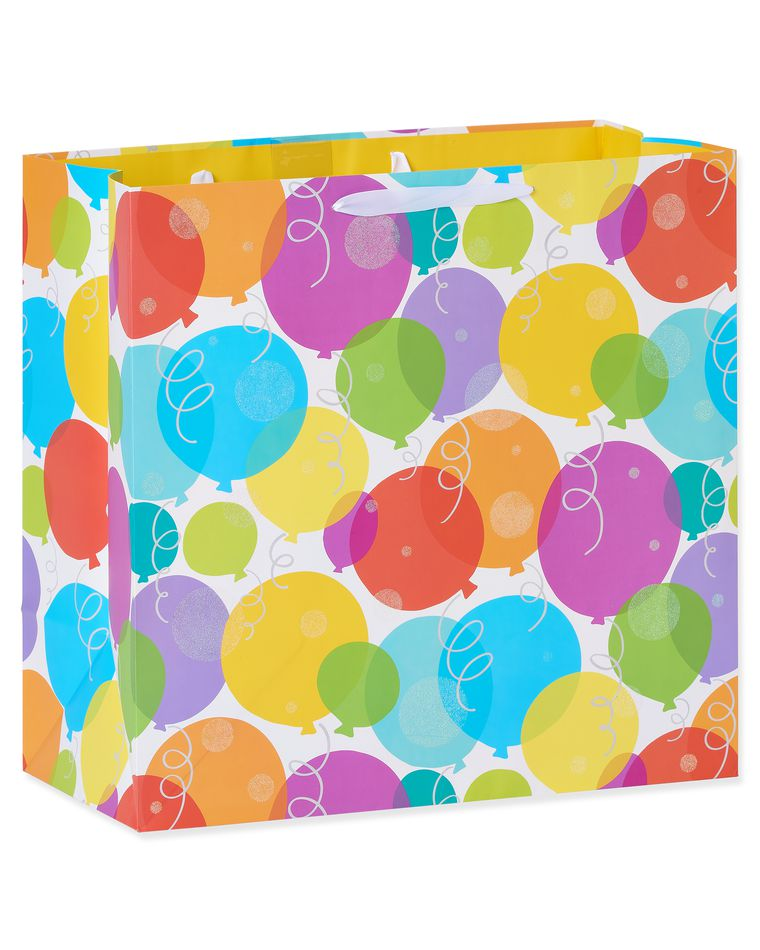 extra large glitter balloons birthday gift bag