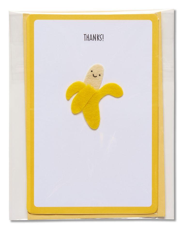 banana thank you card