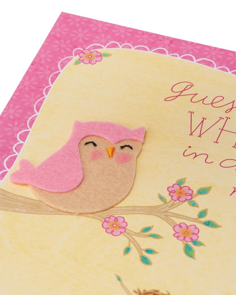 who's in charge now new baby congratulations card