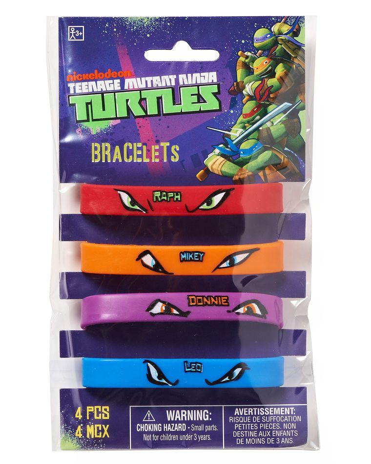 teenage mutant ninja turtles rubber bracelets 4 ct