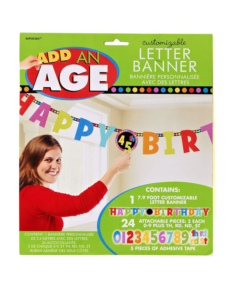 dots & stripes birthday party banner
