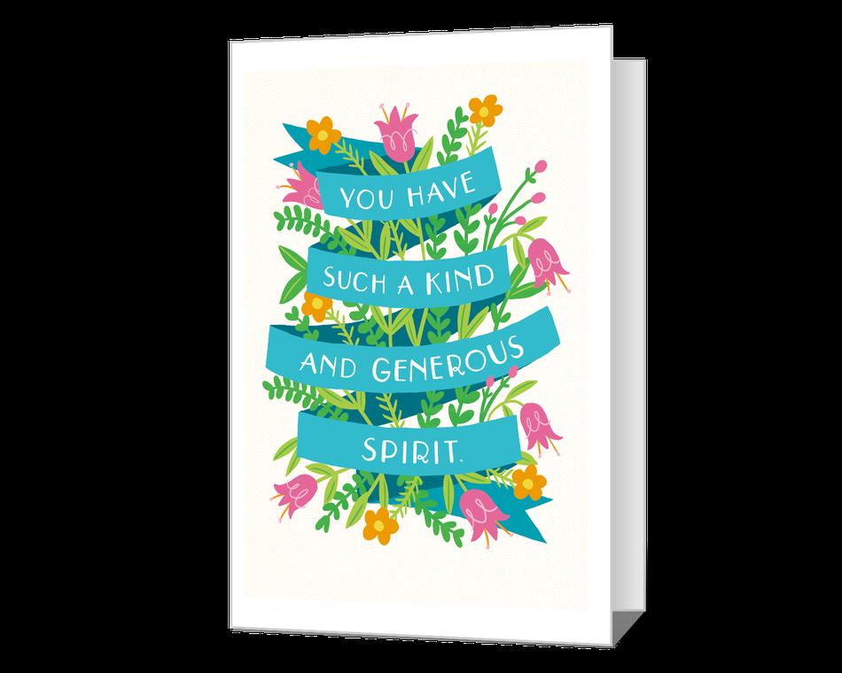 Your Generous Spirit Printable