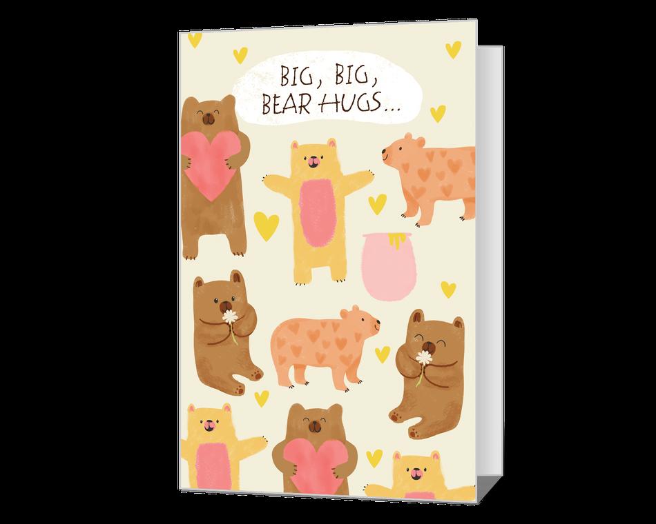 Big Bear Hugs Printable