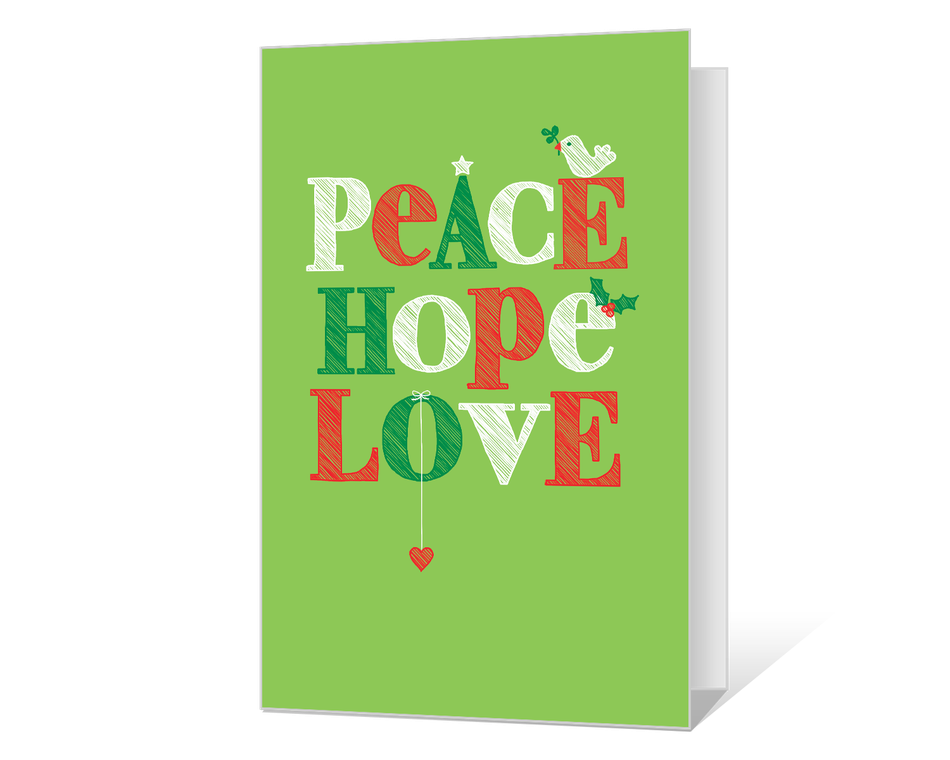Peace Hope Love Printable
