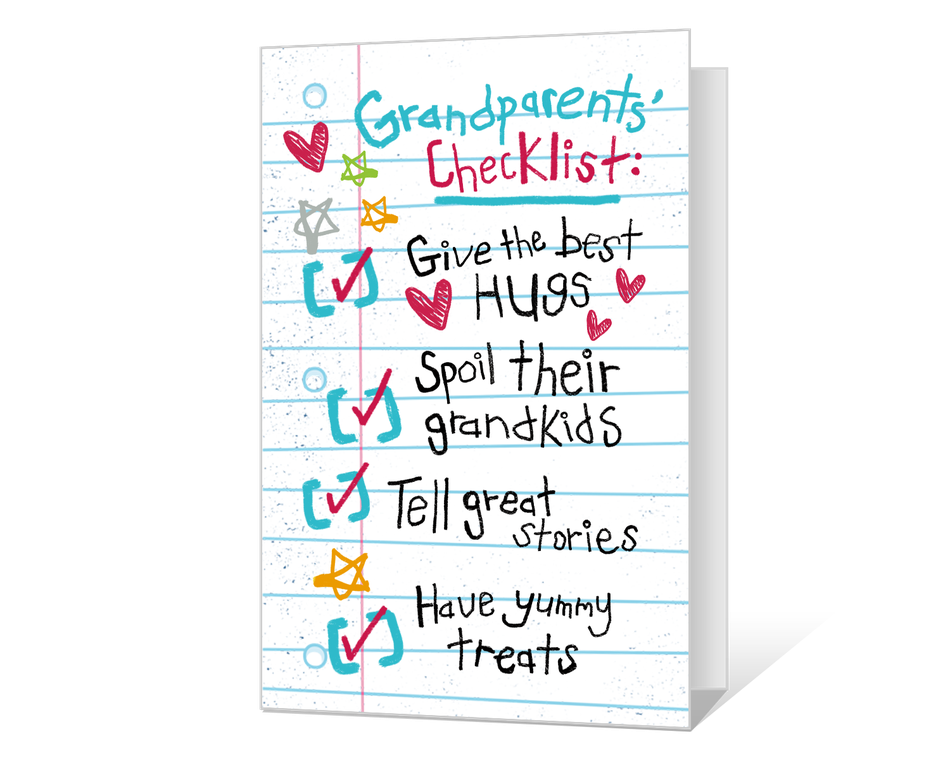 Grandparents Checklist Printable