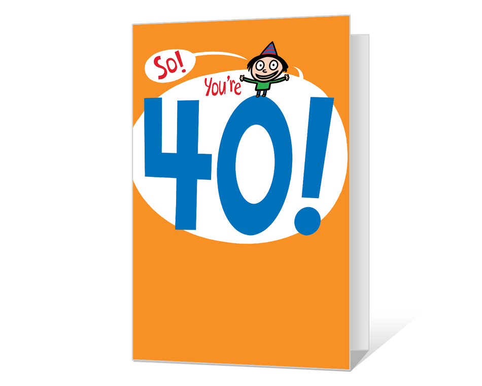 40th Birthday Printable