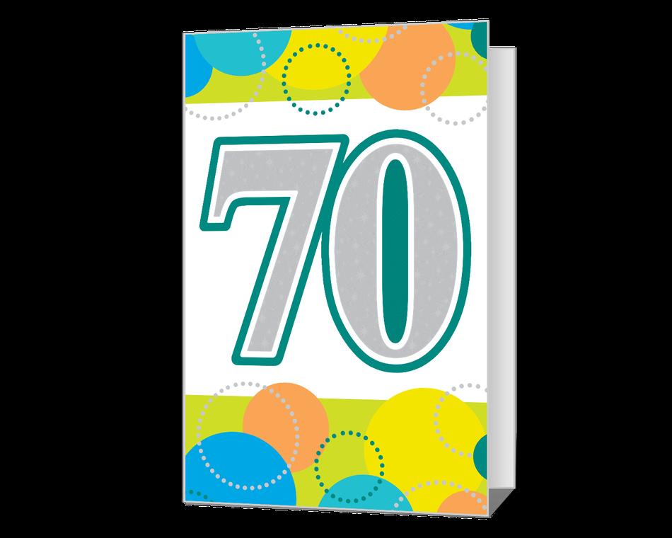 70th Birthday Printable