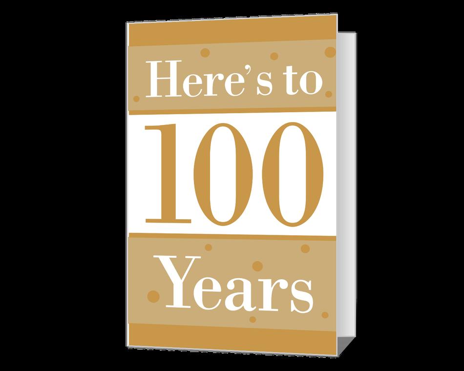 100th Birthday Printable