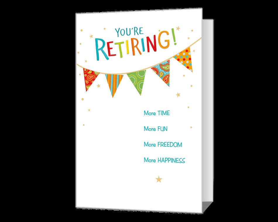 Happy Retirement Printable