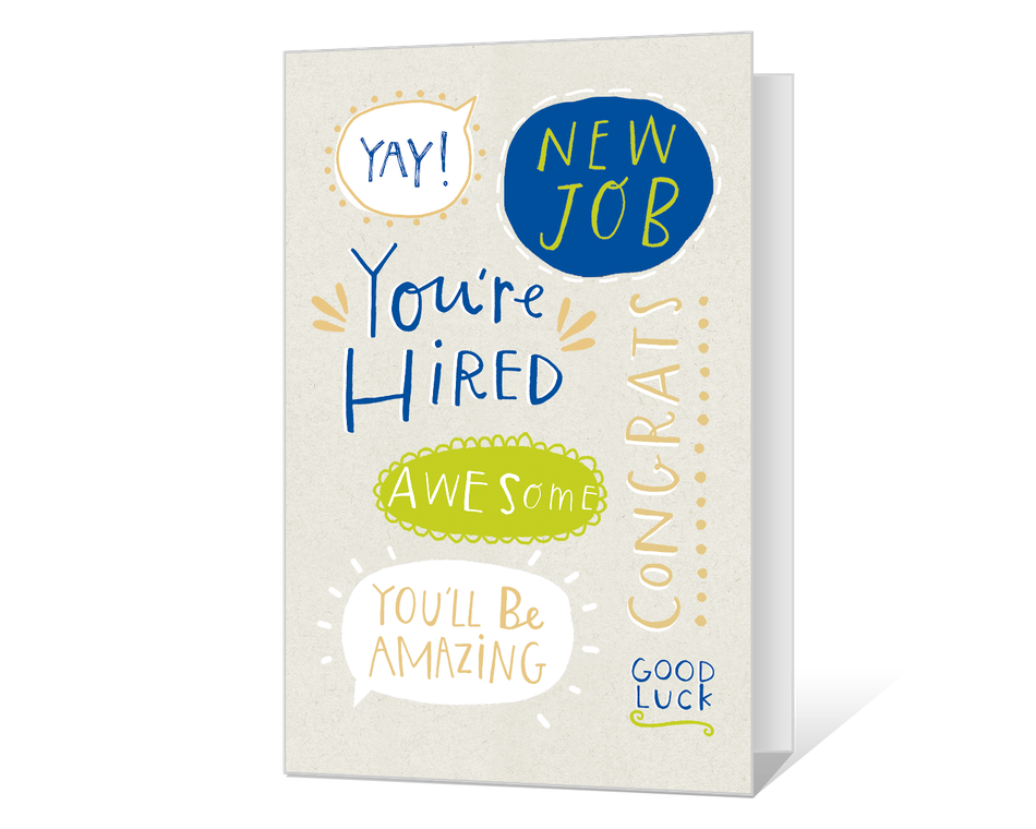 New Job Congrats Printable