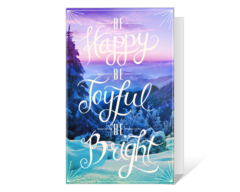 Joyful and Bright Wishes Printable