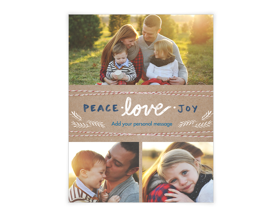 Peace Love and Joy Printable (Add-a-Photo)