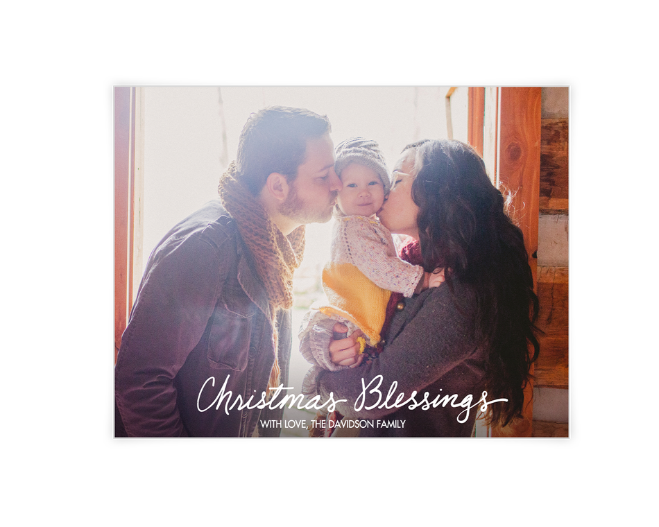 Christmas Blessings Printable (Add-a-Photo)