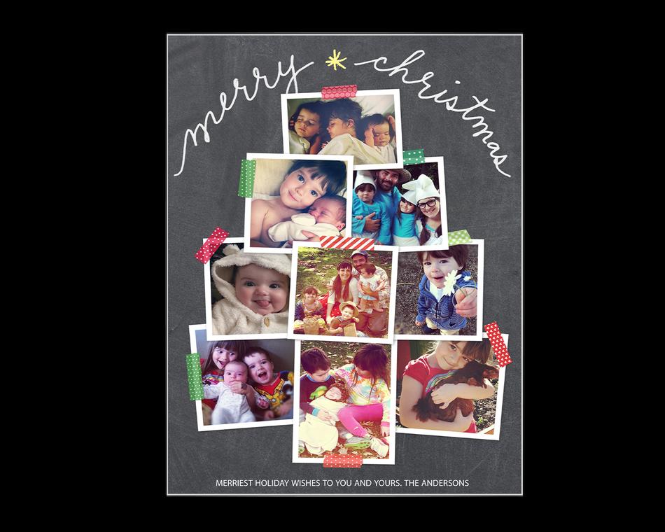 Merry Christmas Tree Printable (Add-a-Photo)