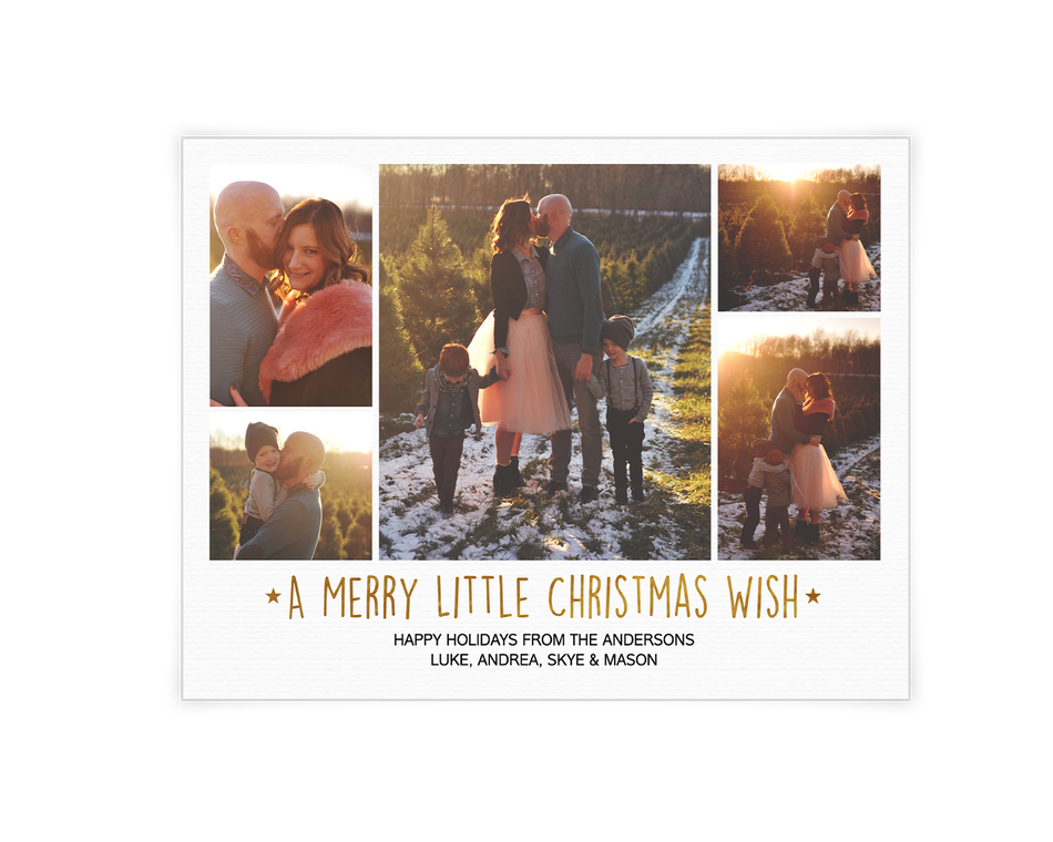 A Merry Little Christmas Wish Printable (Add-a-Photo)