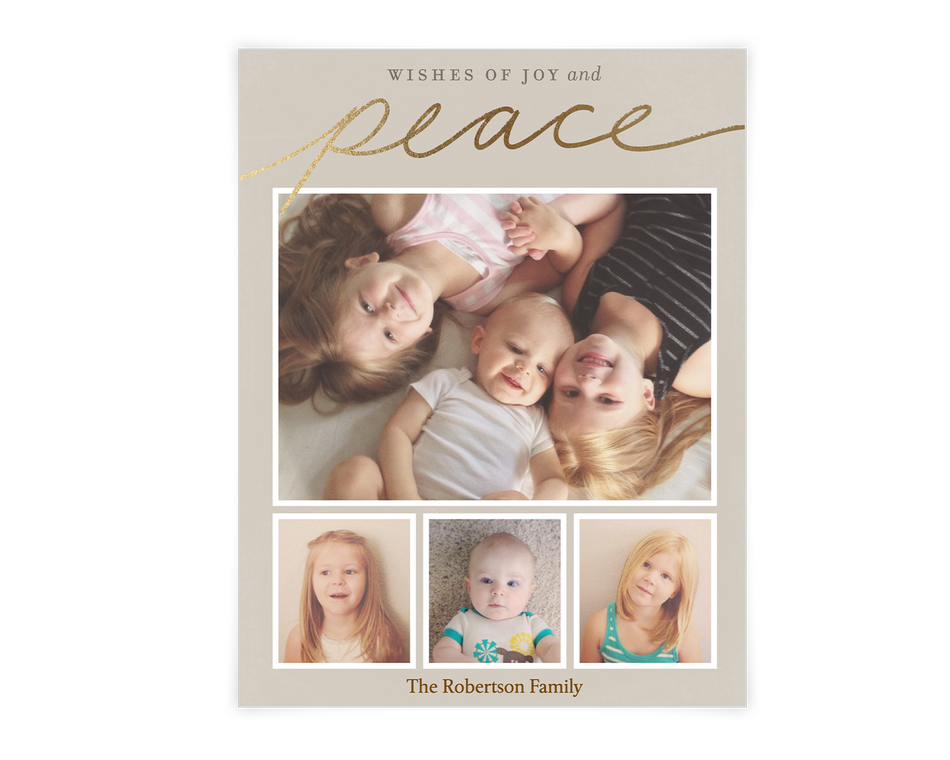 Wishes of Joy and Peace Printable (Add-a-Photo)