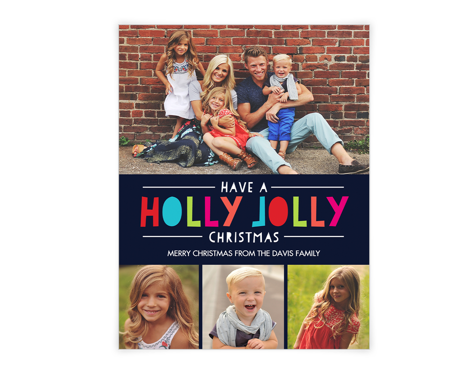 Holly Jolly Wishes Printable (Add-a-Photo)