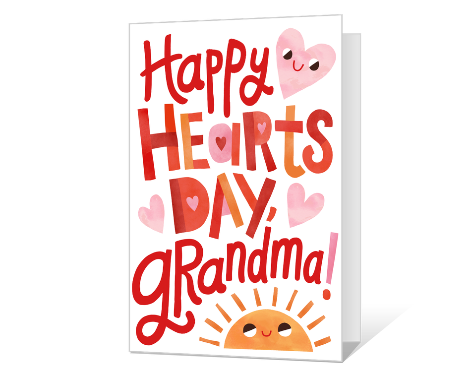 Happy Hearts Day, Grandma! Printable
