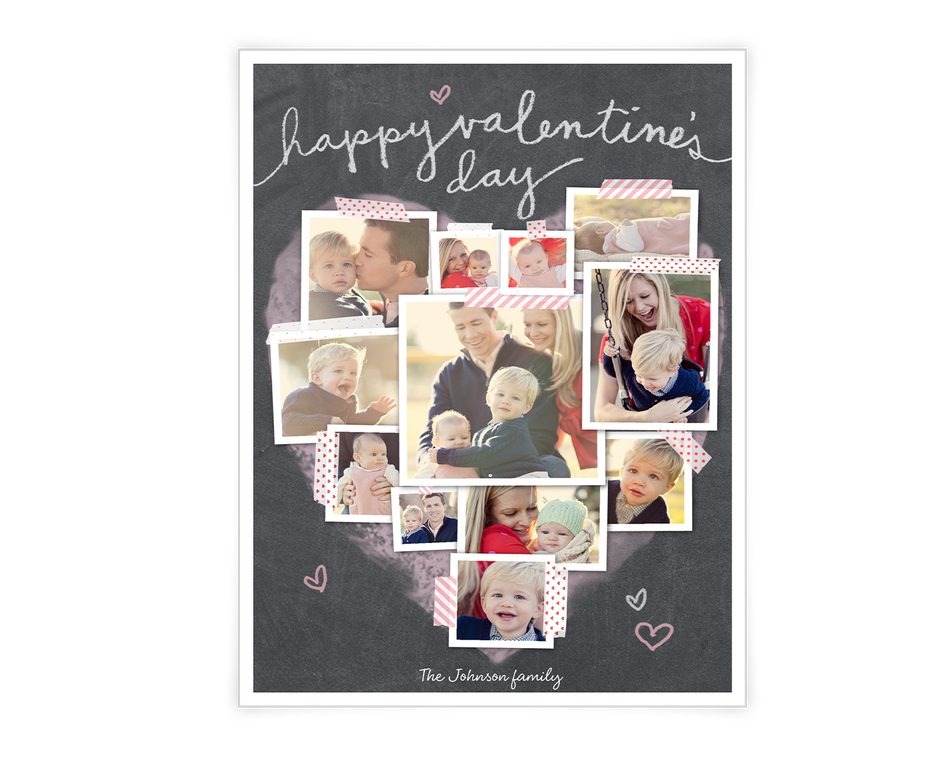 Valentine Heart Collage Printable (Add-a-Photo)
