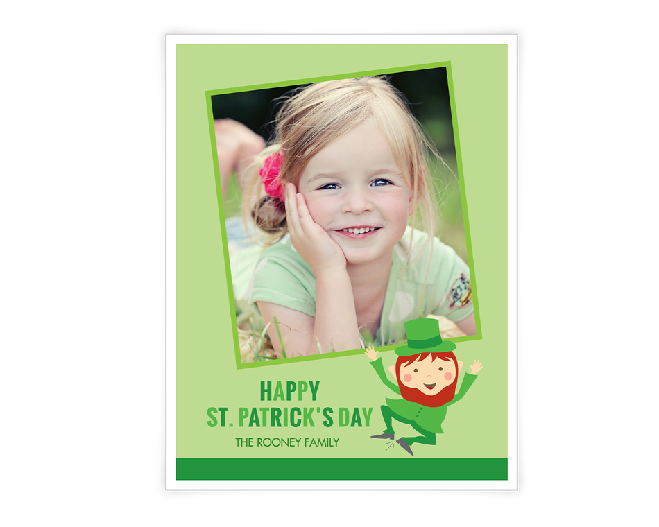 Leprechaun Wishes Printable (Add-a-Photo)