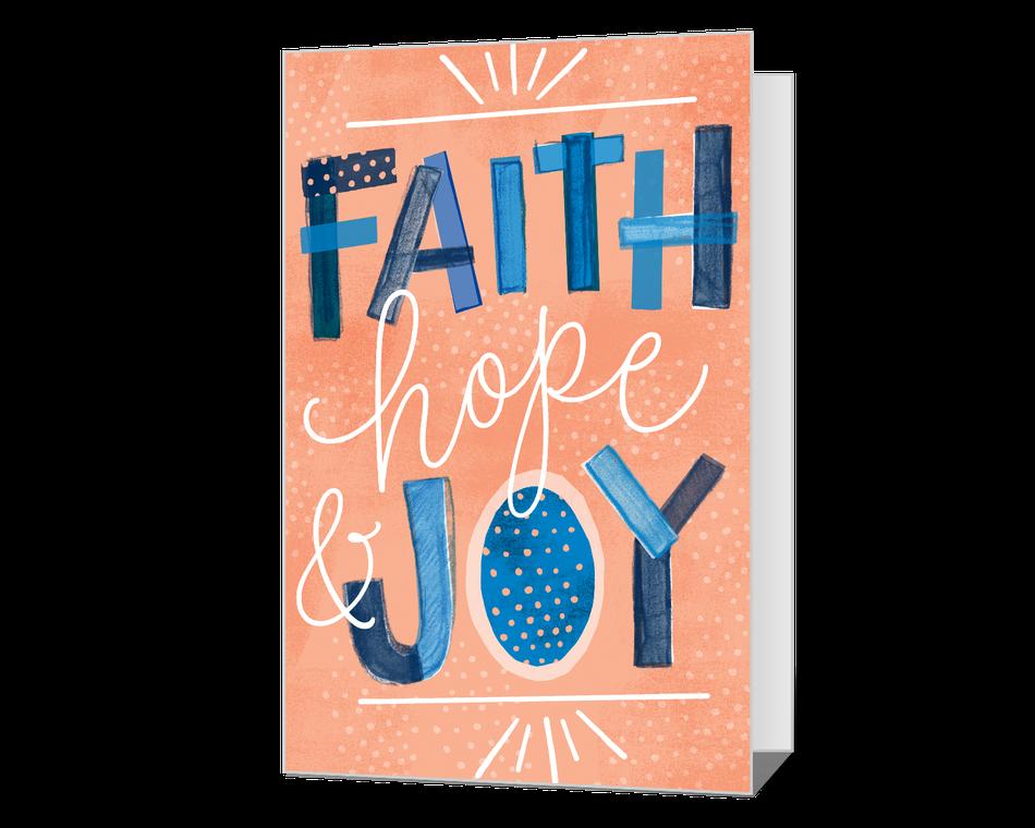 Faith Hope & Joy Printable