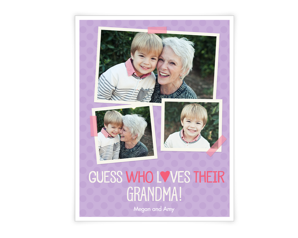 Love to Grandma  Add-a-Photo Printable