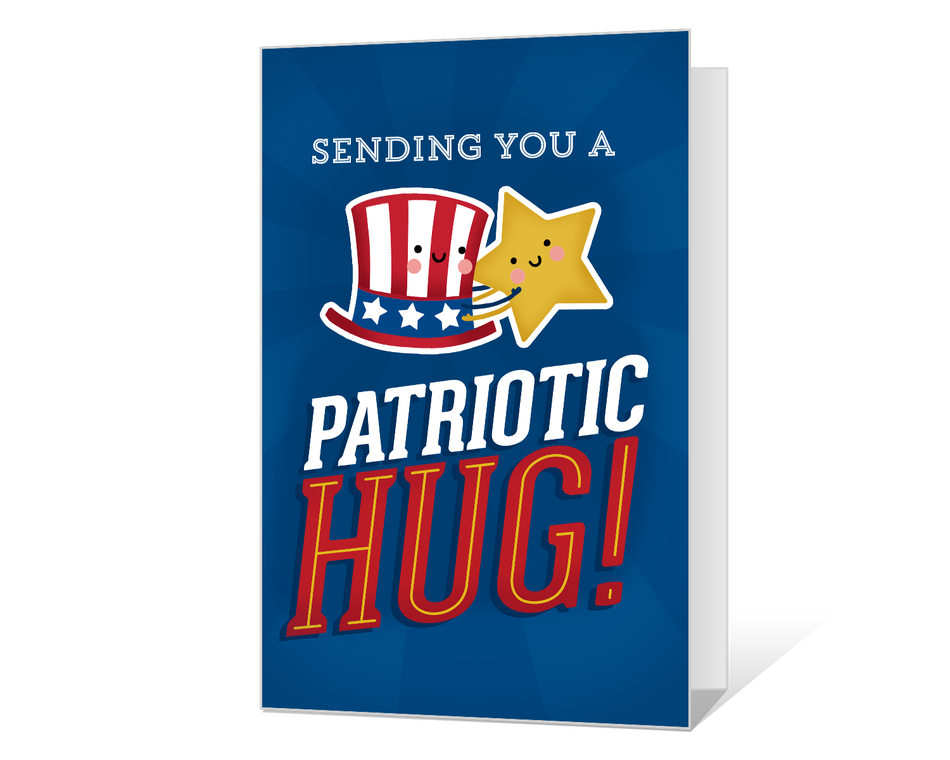 Patriotic Hug Printable (Add-a-Photo)