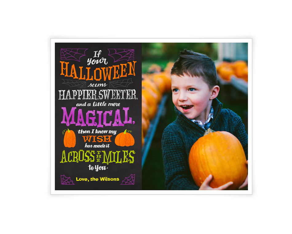 Halloween Across the Miles Printable (Add-a-Photo)
