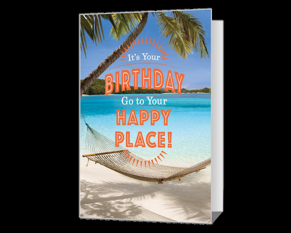 Happy Place Birthday Printable