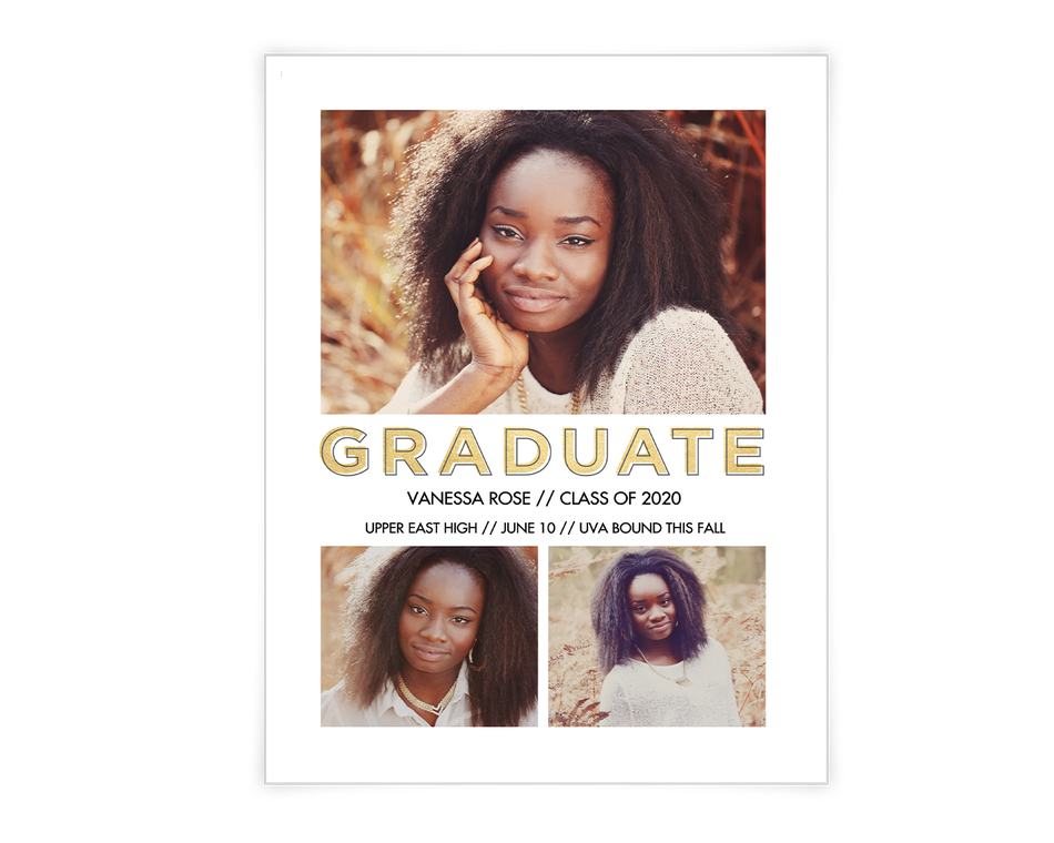 Graduate Announcement Printable (Add-a-Photo)
