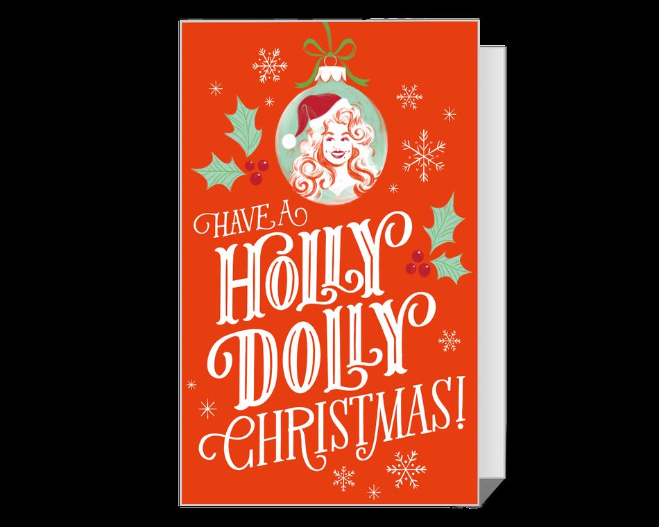 Holly Dolly Christmas Printable