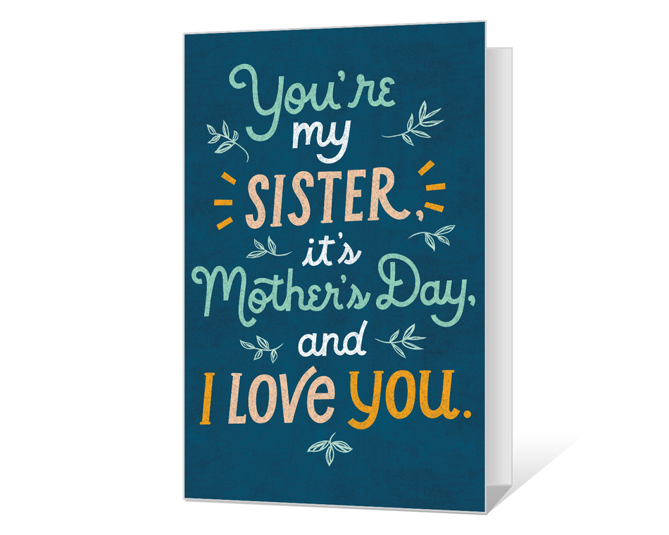 To My Sister on Mother's Day Printable