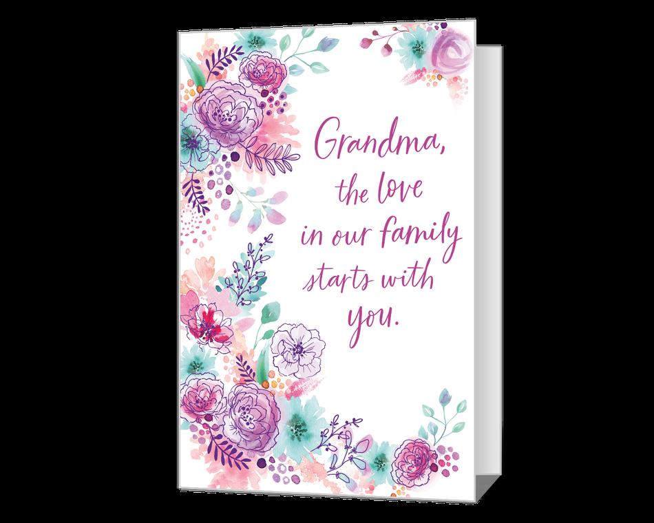 A Grandma's Love Printable