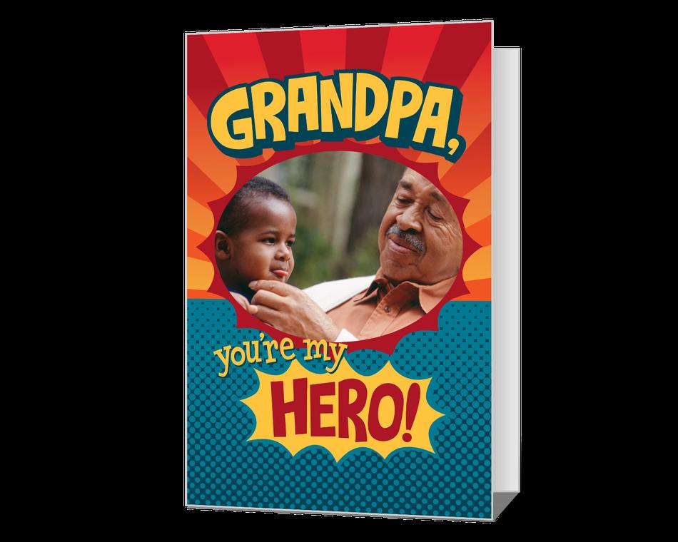 Grandpa, You're My Hero! Printable (Add-a-Photo)