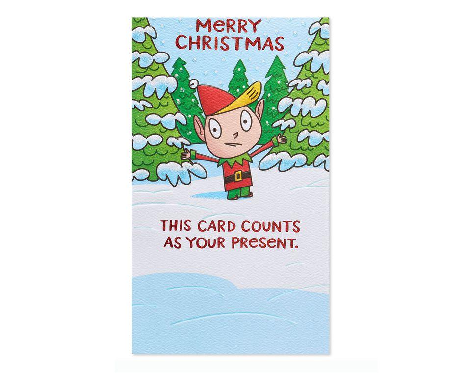 Joke gift card holder christmas